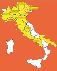 Mappa che mostra dove si trova ISF in Italia